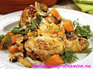 блюда из тыквы с курицей