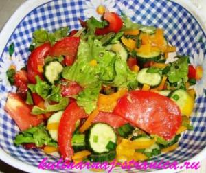 салат помидоры перец огурцы