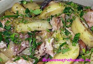картофель тушеный с фото