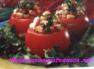 сырые фаршированные помидоры