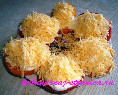 ...закуска из помидоров с брынзой Рецепт ... распределить сыр с зеленью.