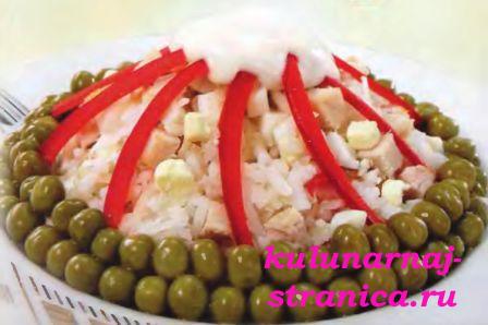Приготовим вкусный салат с рисом