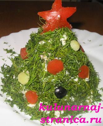 Вкусный новогодний салат «Елка»